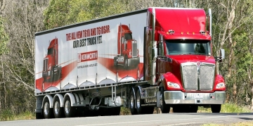Kenworth trailer curtain