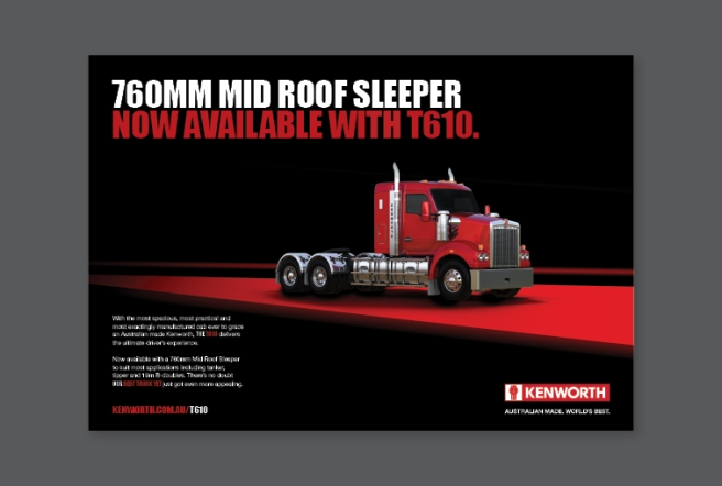 Kenworth T610 Double Page Press Ad